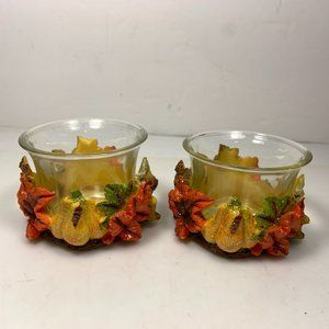 Other - Fall Leaves & Pumpkins Votive Candle Holders